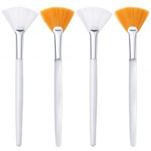 4 Pcs Facial Brushes Fan Mask Brush