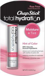 ChapStick Total Hydration Moisture + Tint Rose Petal Tinted Lip Balm Tube