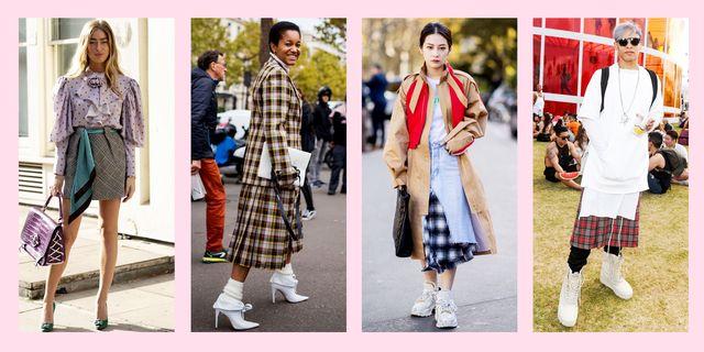 plaid dress outfit ideas
